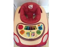 NEW CHICCO BAND RED BABY WALKER IN EXCELLENT CONDITION