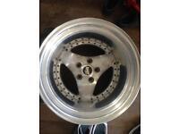 """15""""x 15"""" wide wheel trike drag car"""
