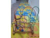 Beads Maze Wooden Roller Coaster Activity