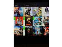 Xbox one with 80+ downloads 1 controller and turtle beach headset