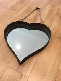 Home sense rusted metal heart mirror