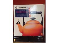 Brand New Le Cruesset Orange stove top/ aga kettle