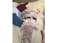 Baby girl clothes bundle up to 1 month