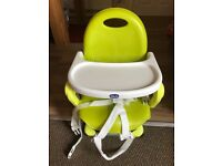 Chicco Pocket Snack Portable Booster Seat-Lime Green