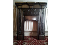 two cast fire surrounds one as used one as new still boxed