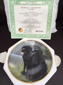 Black Labrador plate