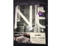 NEW YORK KINGSIZE DUVET SET