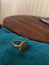 9 ct black diamond ring