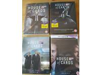 Series 1-4 House Of Cards DVDs