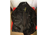 superdry brown leather jacket xl like new