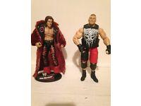 Rare WWE John Morrison and Brock Lesnar elite figures