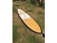 Paddle board SUP bamboo 11ft