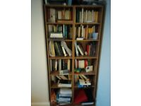 Three bookshelves oak effect can be bought together or separately