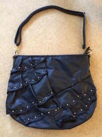 Leather look, studded Marina Galanti bag