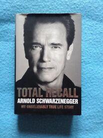 Arnold Schwarzenegger Autobiography Total Recall Hardback Book