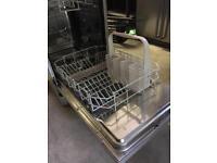 Silver Zanussi slimline dishwasher