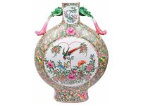 An Early 20th Century Chinese Famille Rose Moon Flask