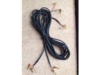 Pair of HI-FI Speaker Cables...5Mtr