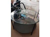 Ikea Glass top coffee table