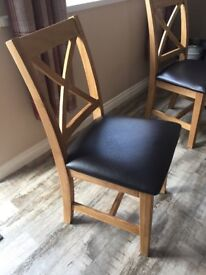 6 Brand New Oak Dining Room Chairs