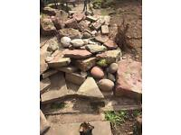 Free rocks perfect for rockery