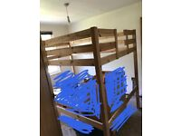 4ft 6in double bed loft bed solid pine wood