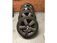 "Genuine Audi 18"" Alloys. Anthracite grey. RS4, RS6, Almost new tyres!"