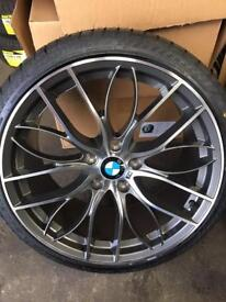"""BMW 5x120 19"""" staggered 405m style alloy wheels to suit 3 series etc"""
