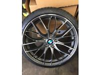 "BMW 5x120 19"" staggered 405m style alloy wheels to suit 3 series etc"
