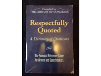 Respectfully Quoted - A Dictionary of Quotations