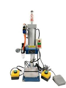 New 110V Pneumatic Press Punching Machine Die Hole Diameter:0.6inch With Buttons Controller Item 230545