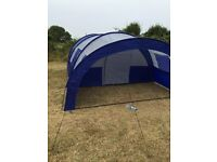 5 birth tent blue and grey only used once- excellent condition