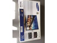 32 Inch Samsung TV Full 1080p HD display, used twice, packaging and protective tape still all as new