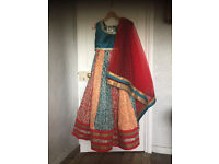 Beautiful Indian lengha saree from Monga's for sale. Only worn once.