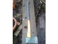 Felling Axe. Approx 6 lb Weight 30 inch Shaft