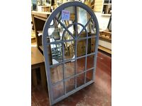 New LARGE grey or ivory arched window mirrors only £89 each Pics 1&2