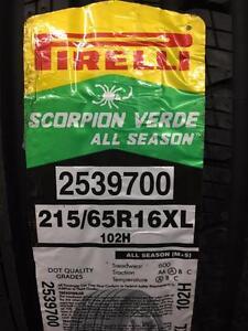 4 Brand New Pirelli Scorpion Verde All Season 215/65R16 *** WallToWallTires.com ***