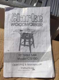 Clarke woodworker
