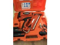 Paslode Im 350 plus 1st fixing gun with 2 battery charger and case in mint condition