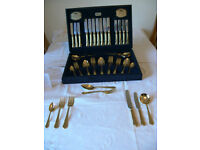VINERS GOLD PLATER CUTLERY SET