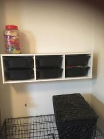Ikea 6 draw shelving unit