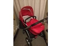 Mothercare My4 Pram / Pushchair / Travel system / Stroller Black-Red