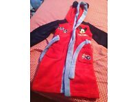 For Sale Kids Disney Store Mickey Mouse Dressing Gown Age 5-6 Years