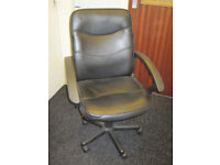 Leather Office / Computer Chair, Height adjustable. can deliver