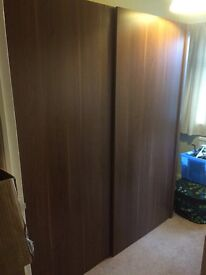 Big sliding door wardrobe....size of two doubles together