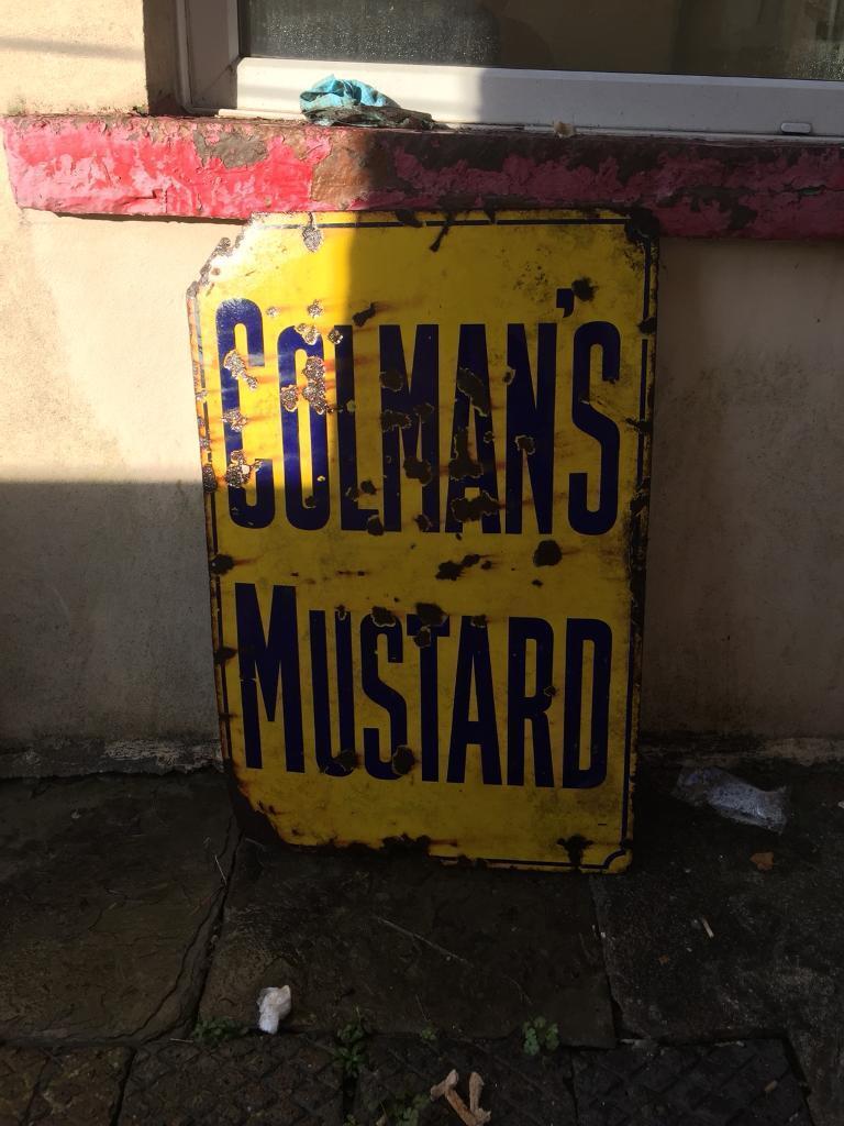 Vintage Colmans Mustard Sign