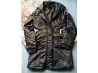 G-Star Womens Quilted Trench Coat, Bitter Brown. Size Small