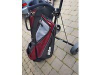 Wilson golf bag & trolley