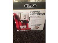 Bella coffe expresso machine and coffee maker