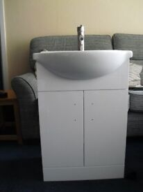 Vanity unit with basin, taps and wqste * REDUCED*